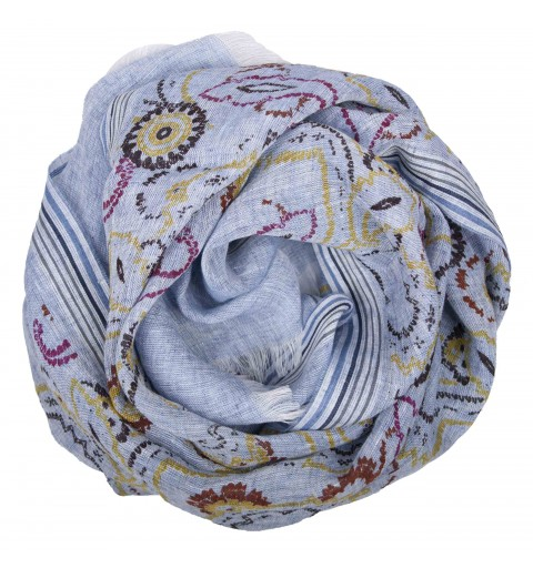 PRINTED LINEN STOLE  50X180...